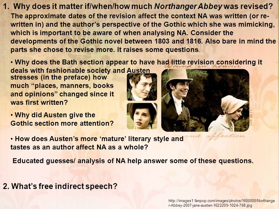 Why does it matter if/when/how much Northanger Abbey was revised