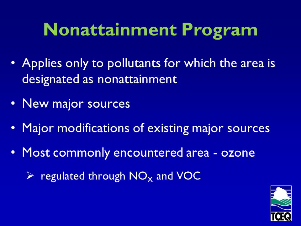 Nonattainment Program