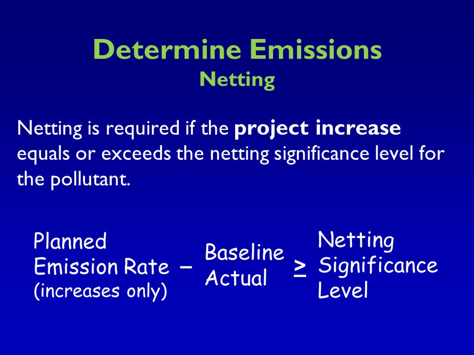 Determine Emissions Netting