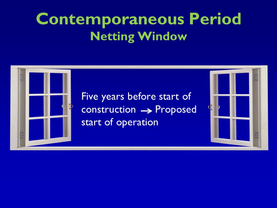 Contemporaneous Period Netting Window