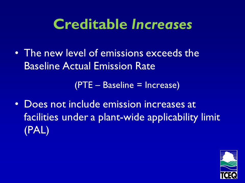 (PTE – Baseline = Increase)