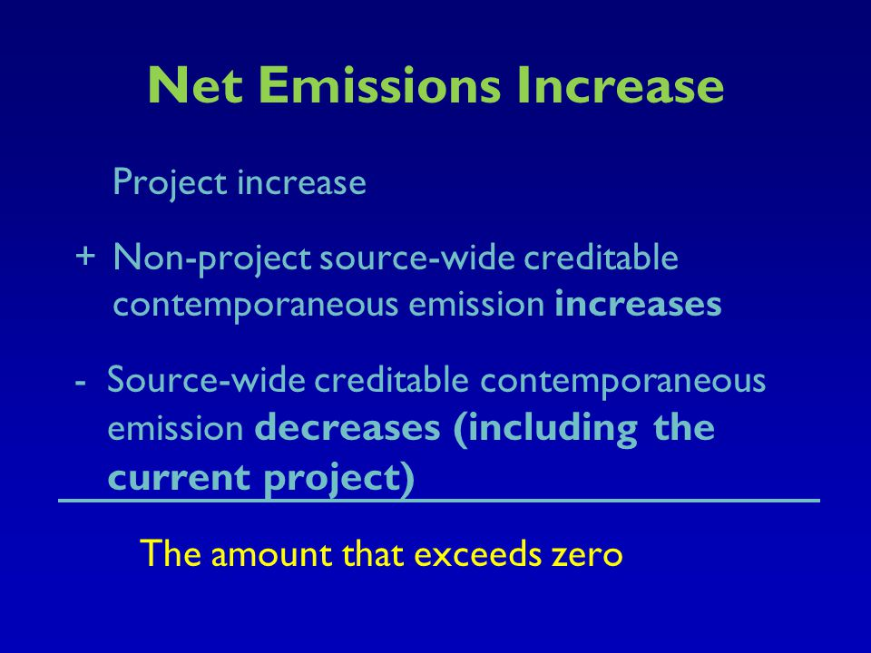 Net Emissions Increase