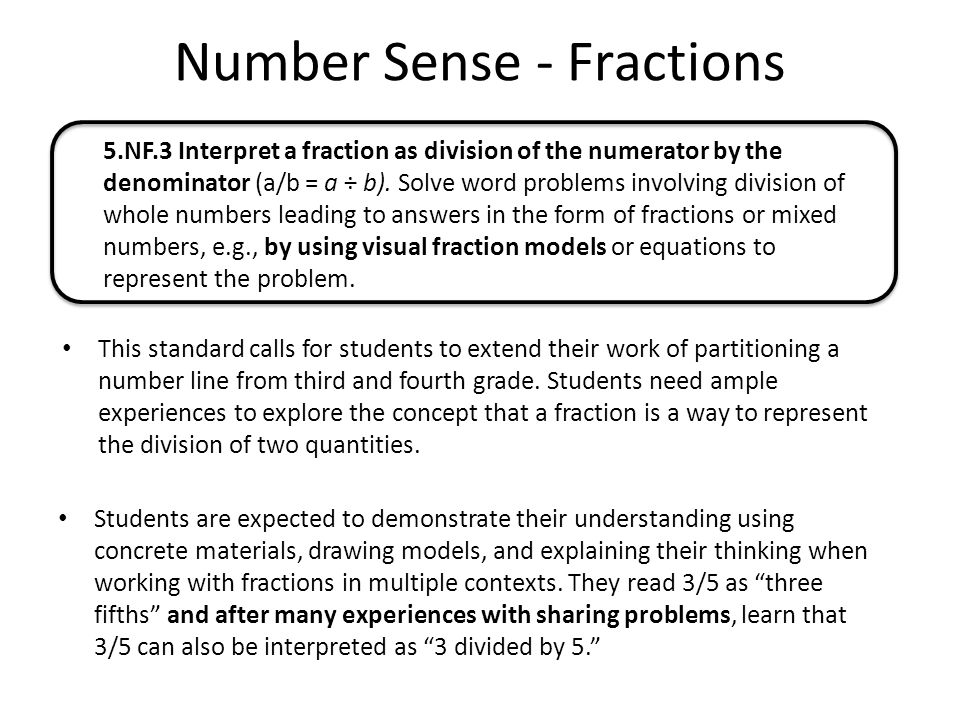 Number Sense - Fractions - ppt download