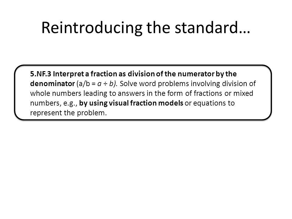 Reintroducing the standard…