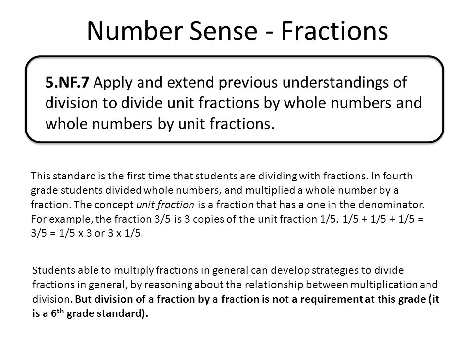 Number Sense - Fractions - ppt download