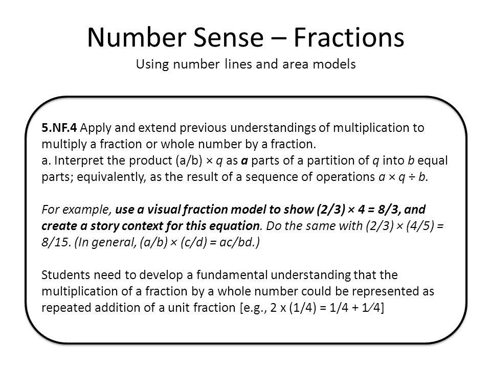 Number Sense – Fractions