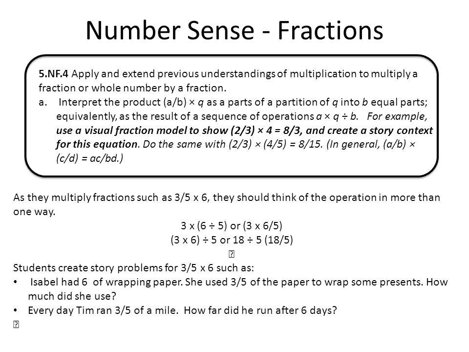 Number Sense - Fractions