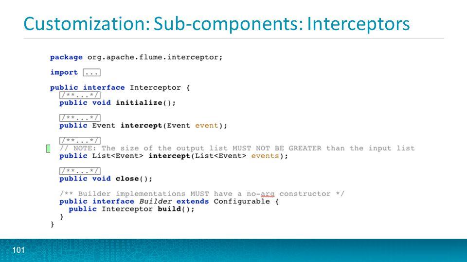 Customization: Sub-components: Interceptors