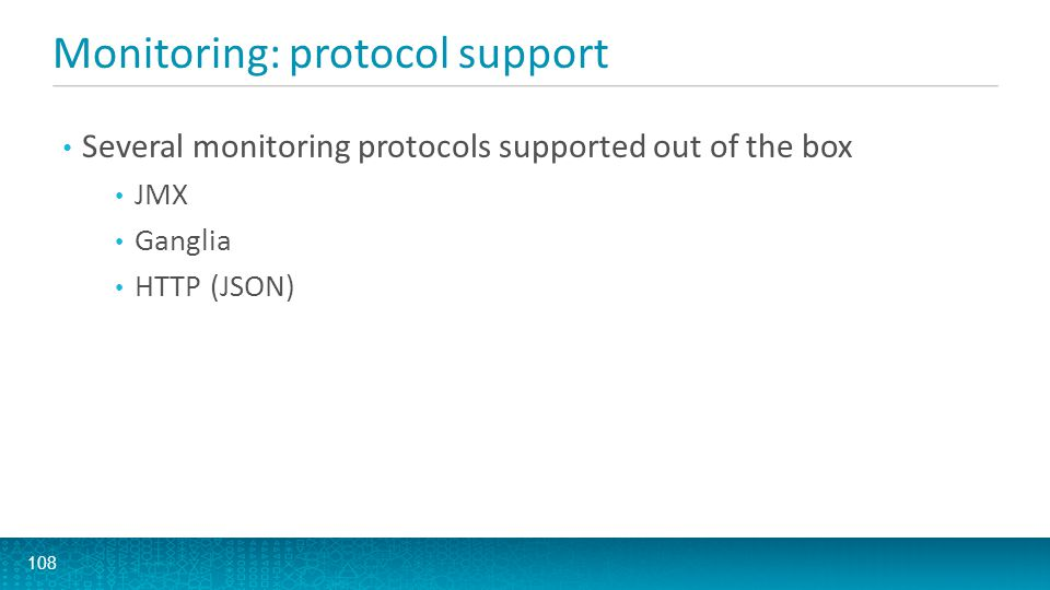 Monitoring: protocol support