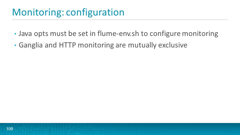 Monitoring: configuration