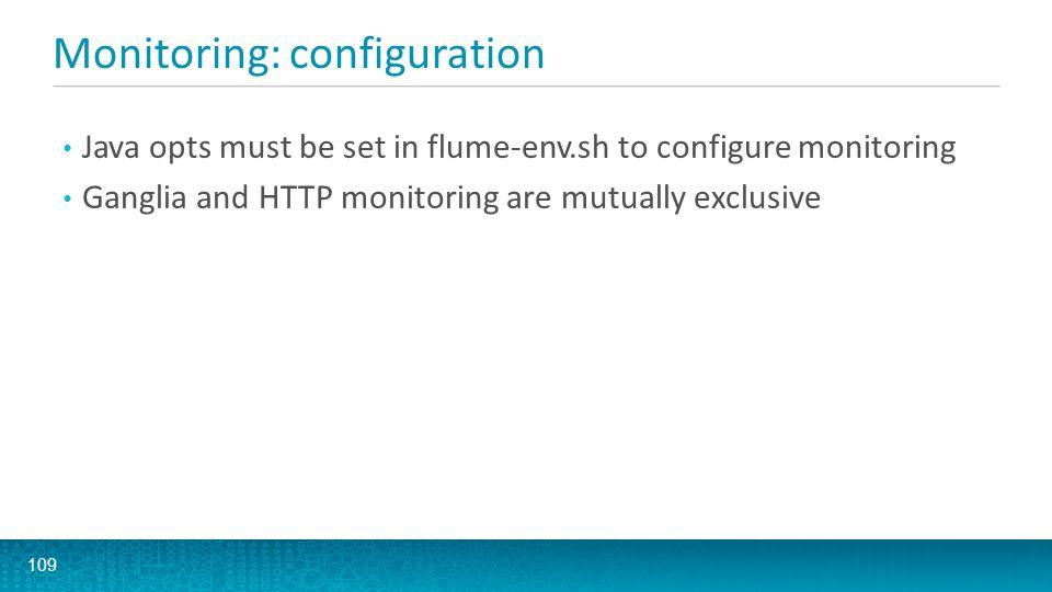 Monitoring: configuration