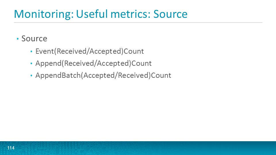 Monitoring: Useful metrics: Source