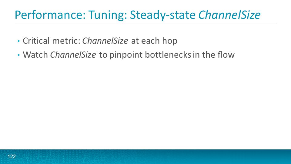 Performance: Tuning: Steady-state ChannelSize