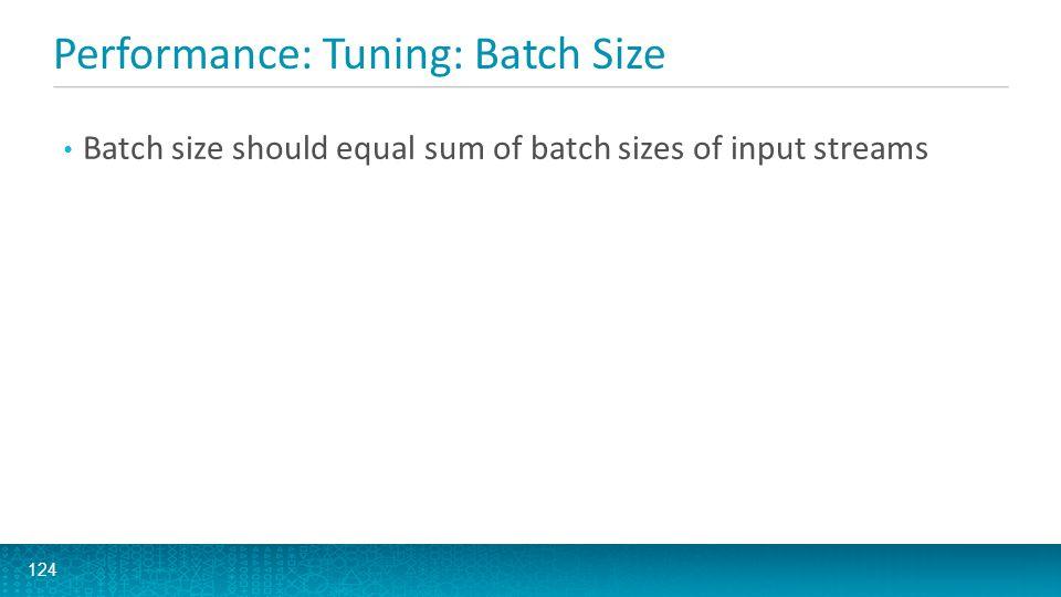 Performance: Tuning: Batch Size