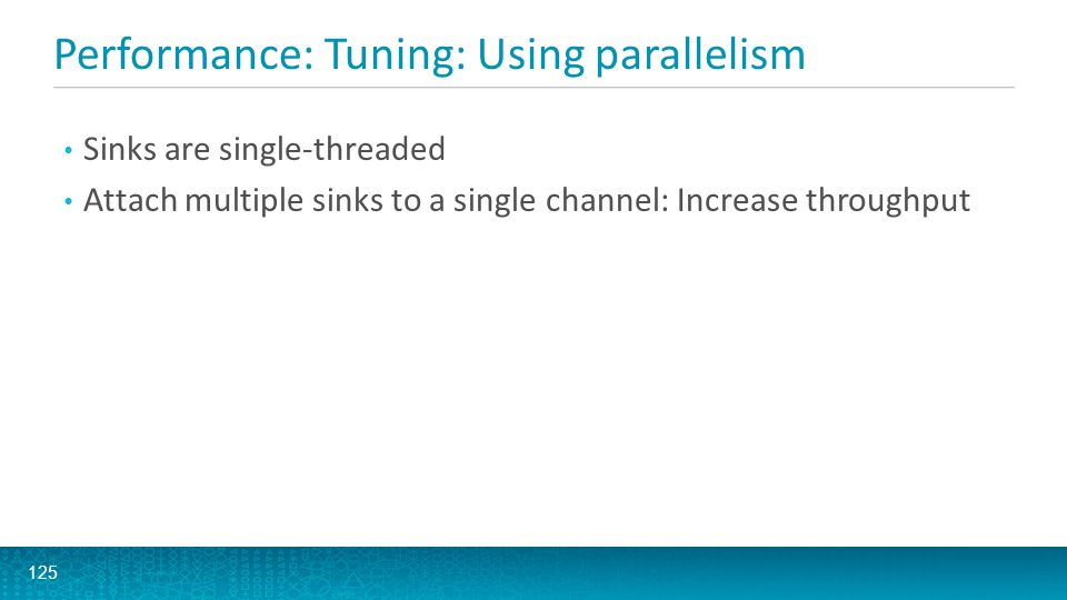 Performance: Tuning: Using parallelism