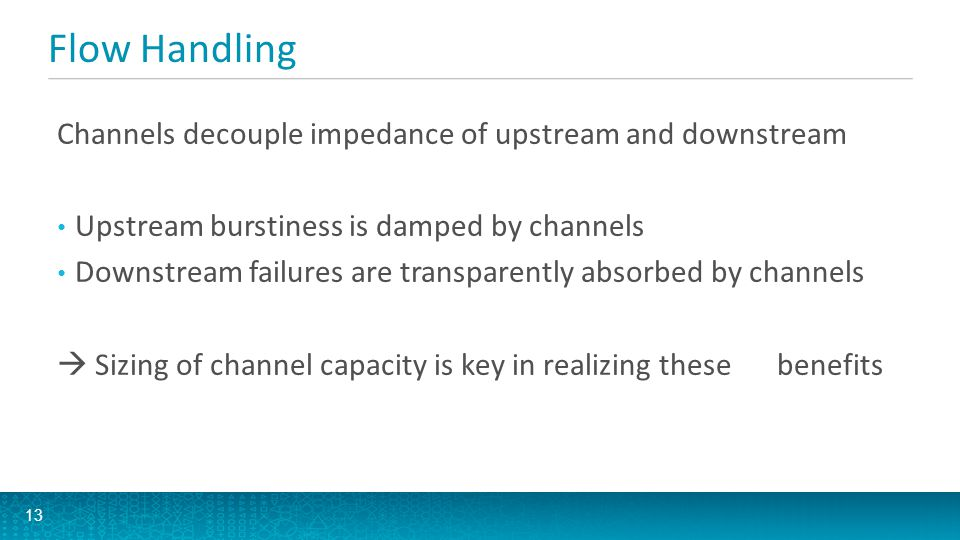 Flow Handling Channels decouple impedance of upstream and downstream