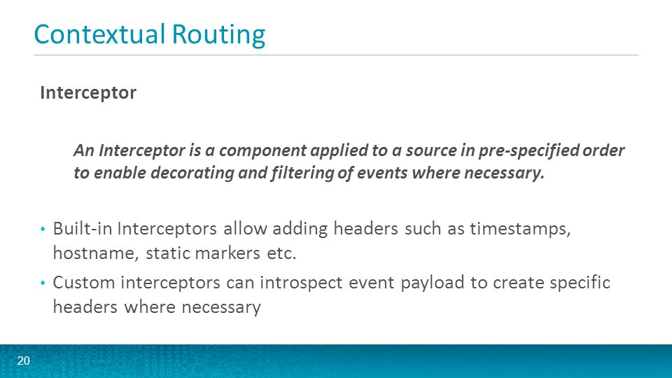 Contextual Routing Interceptor