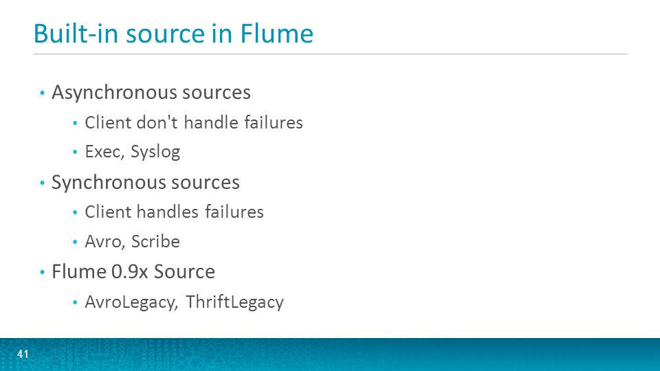 Built-in source in Flume