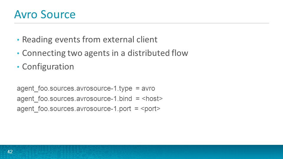 Avro Source Reading events from external client
