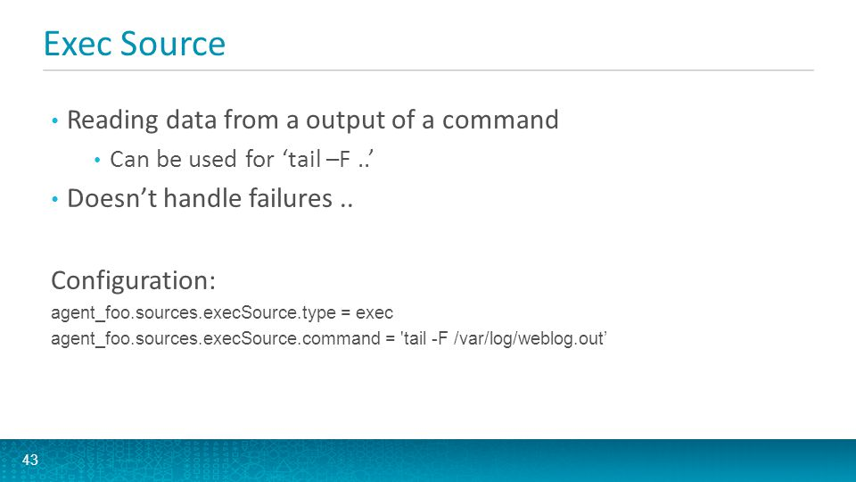 Exec Source Reading data from a output of a command