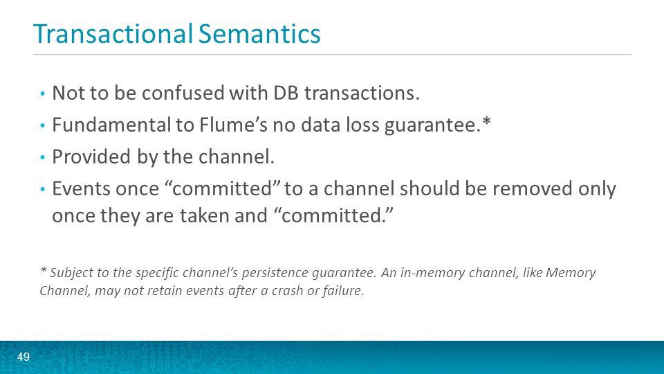 Transactional Semantics