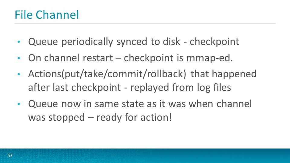File Channel Queue periodically synced to disk - checkpoint