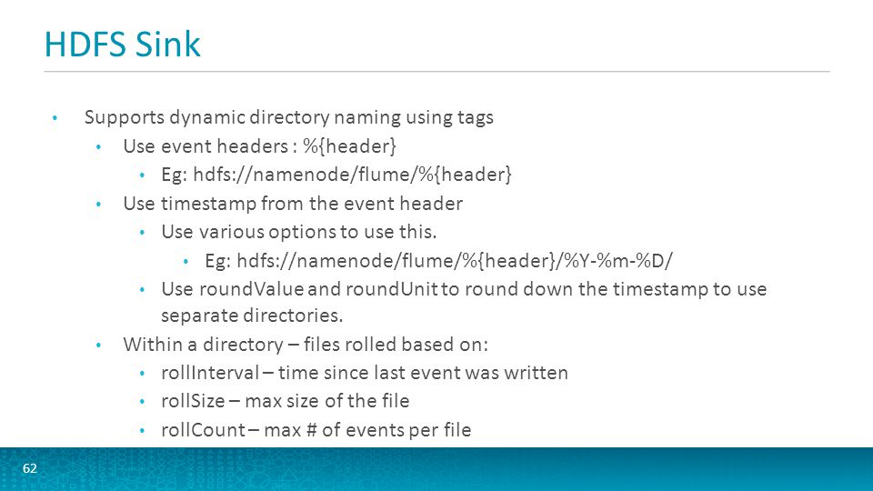 HDFS Sink Supports dynamic directory naming using tags