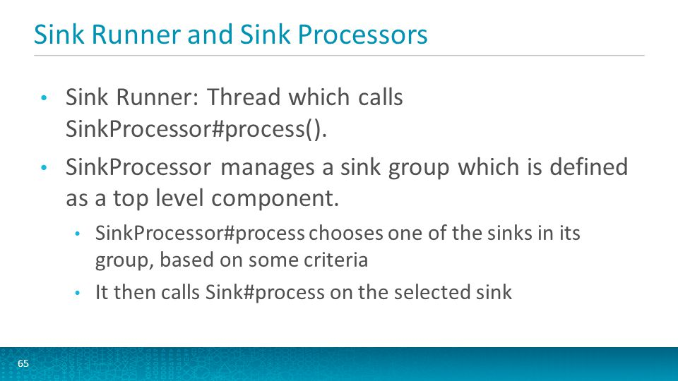 Sink Runner and Sink Processors