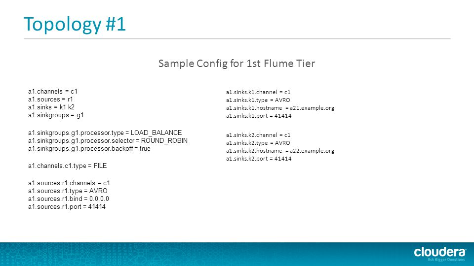 Sample Config for 1st Flume Tier