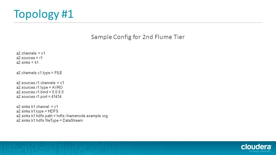 Sample Config for 2nd Flume Tier