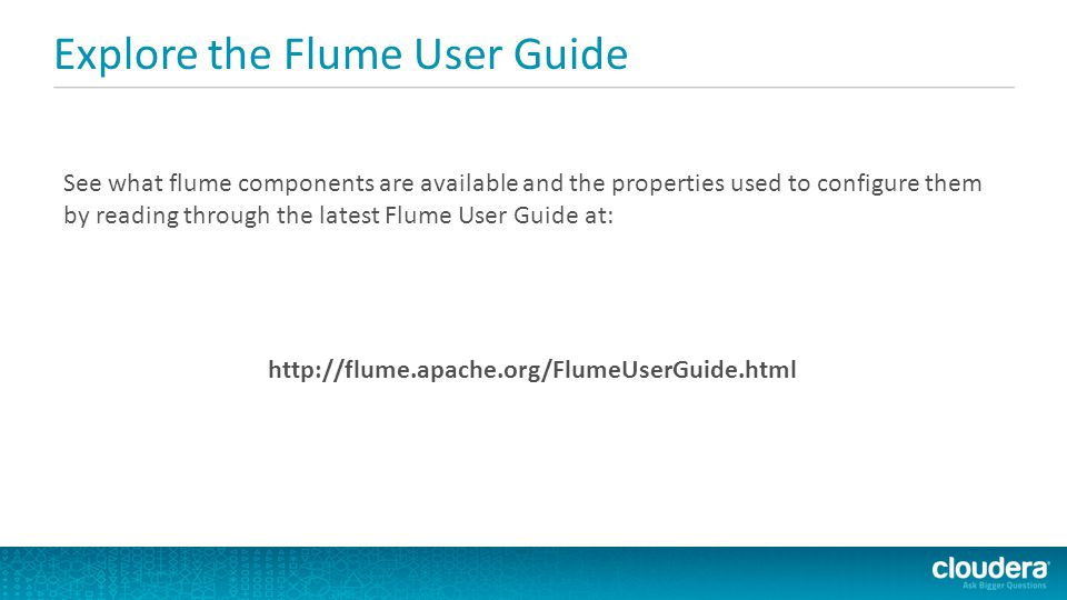 Explore the Flume User Guide