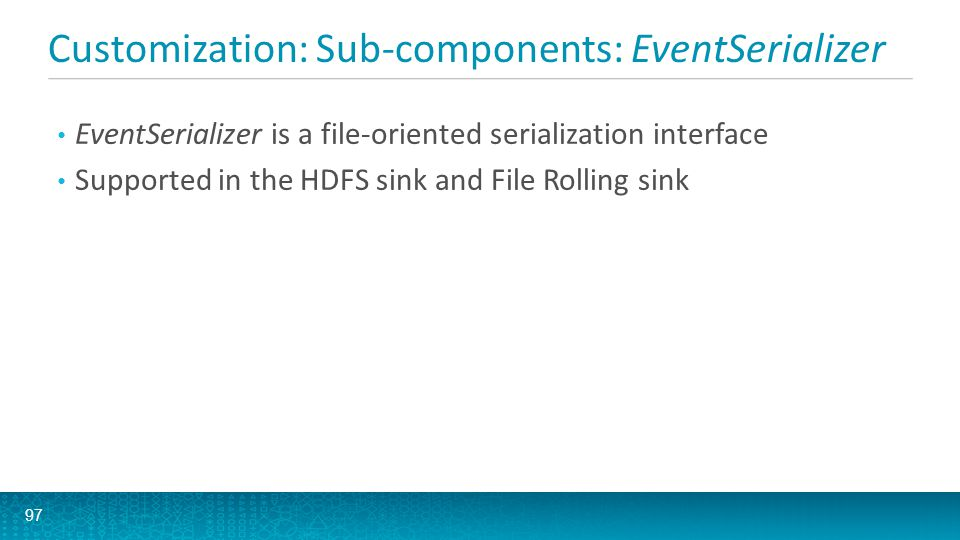 Customization: Sub-components: EventSerializer