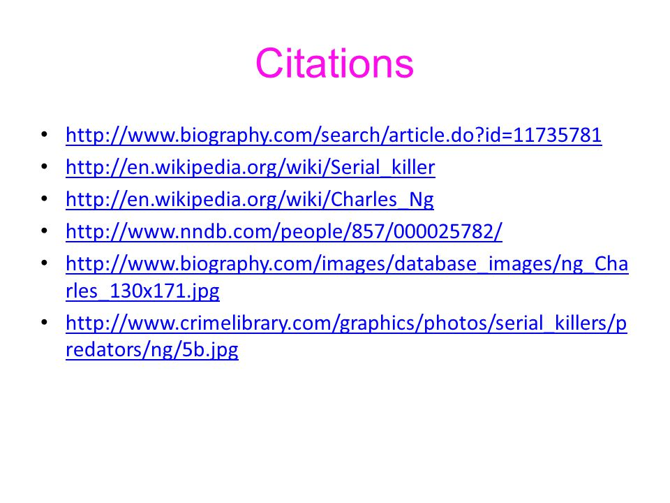 Citations http://www.biography.com/search/article.do id=11735781