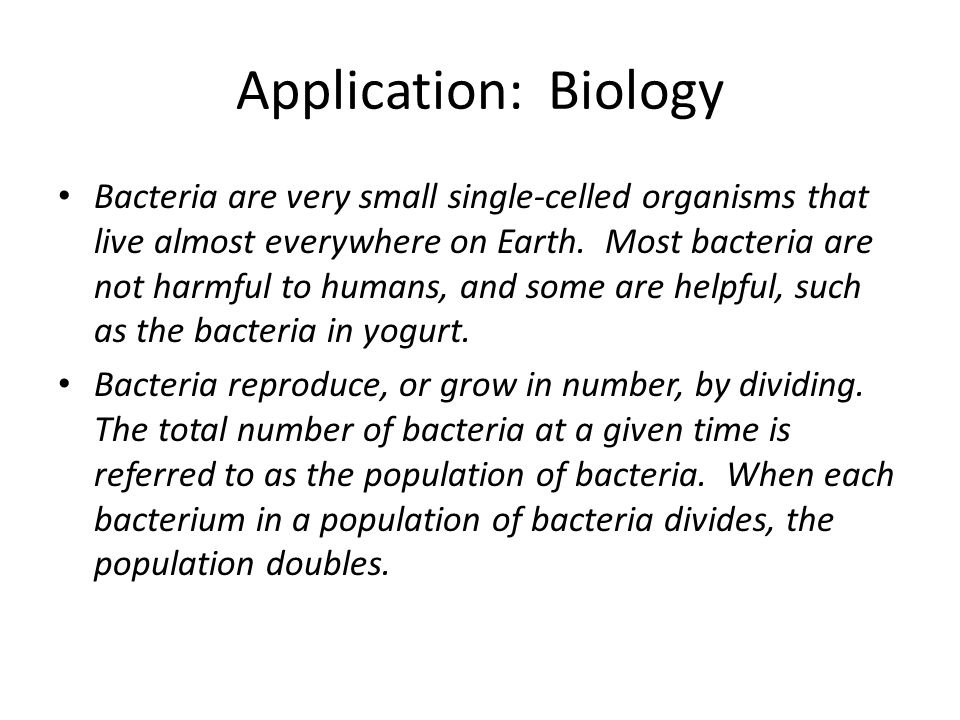 Application: Biology