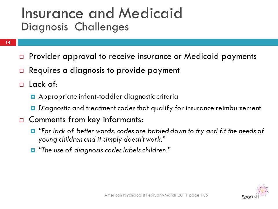 Insurance and Medicaid Diagnosis Challenges
