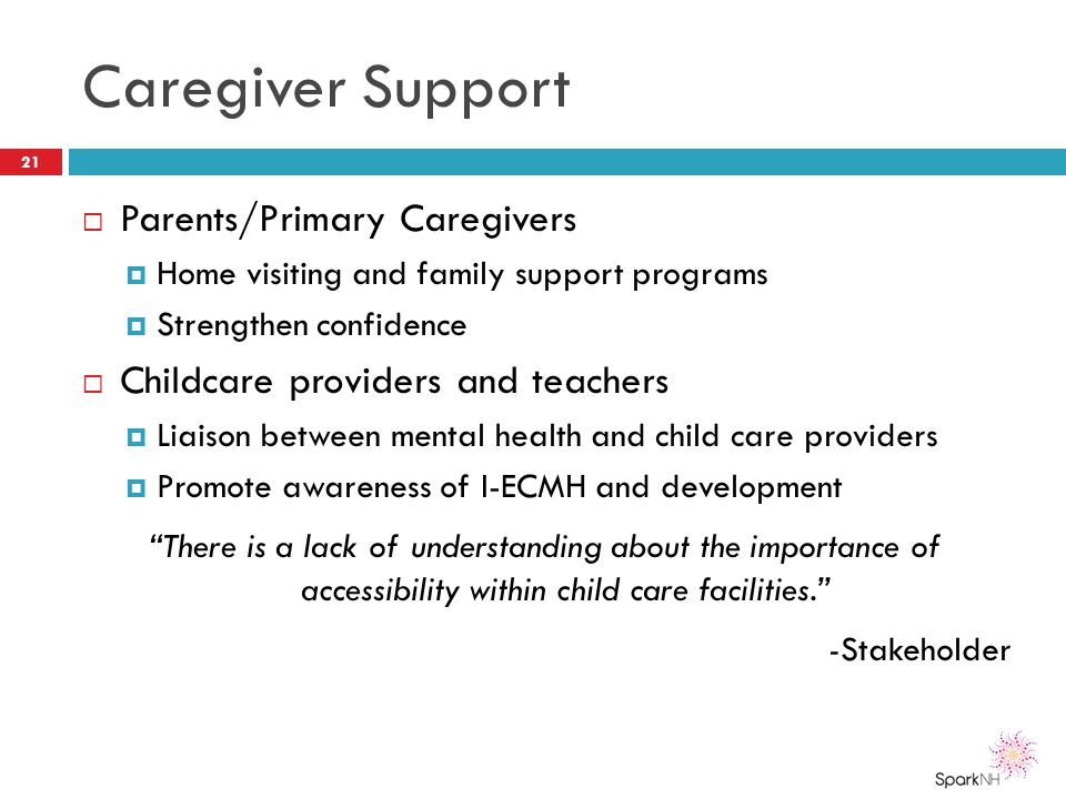 Caregiver Support Parents/Primary Caregivers