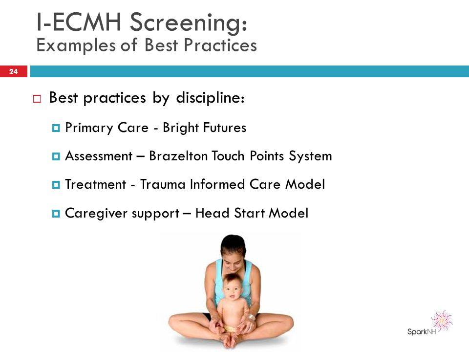 I-ECMH Screening: Examples of Best Practices