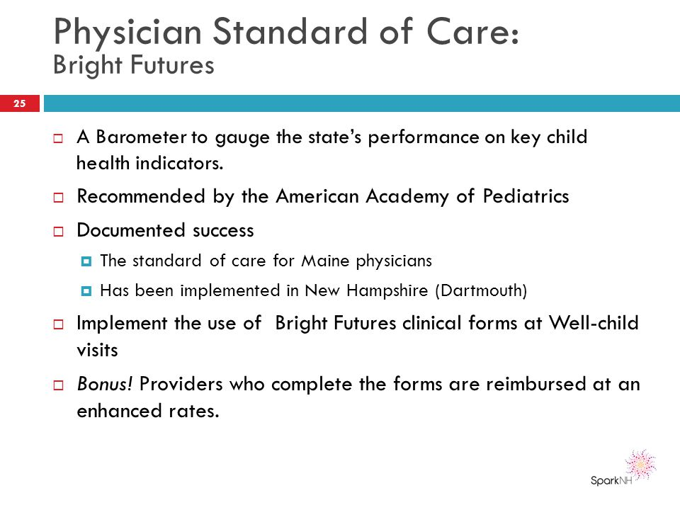 Physician Standard of Care: Bright Futures