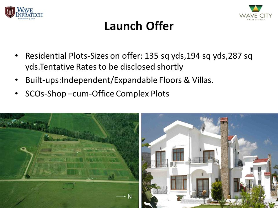 Launch Offer Residential Plots-Sizes on offer: 135 sq yds,194 sq yds,287 sq yds.Tentative Rates to be disclosed shortly.