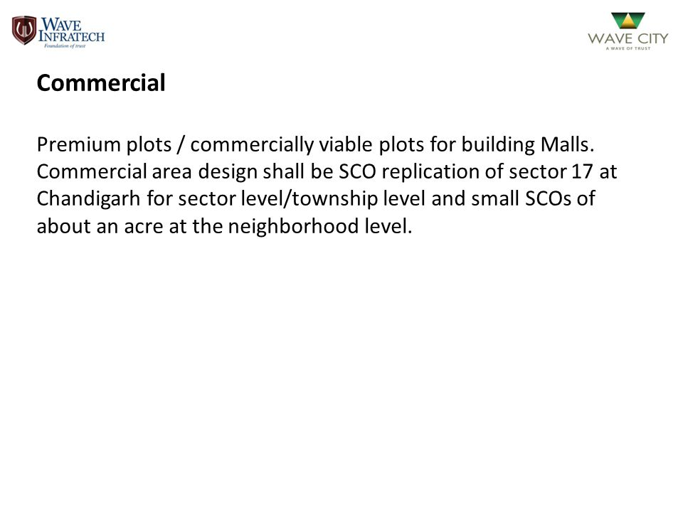 Commercial Premium plots / commercially viable plots for building Malls.