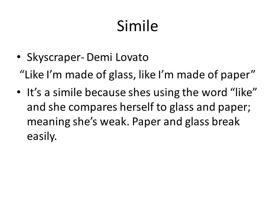 Simile Skyscraper- Demi Lovato