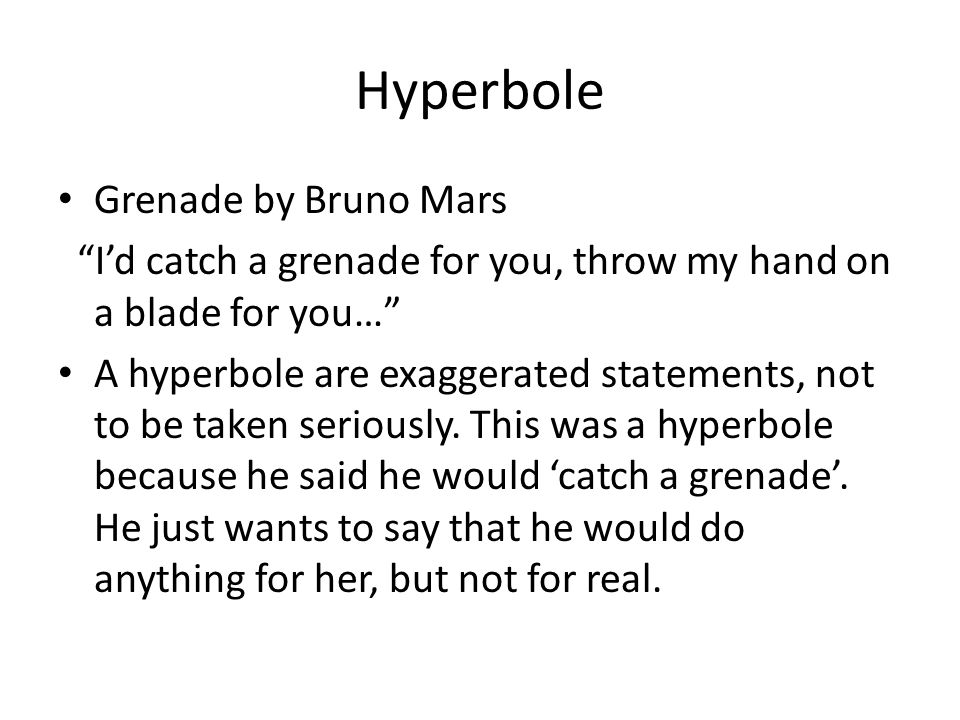 Hyperbole Grenade by Bruno Mars