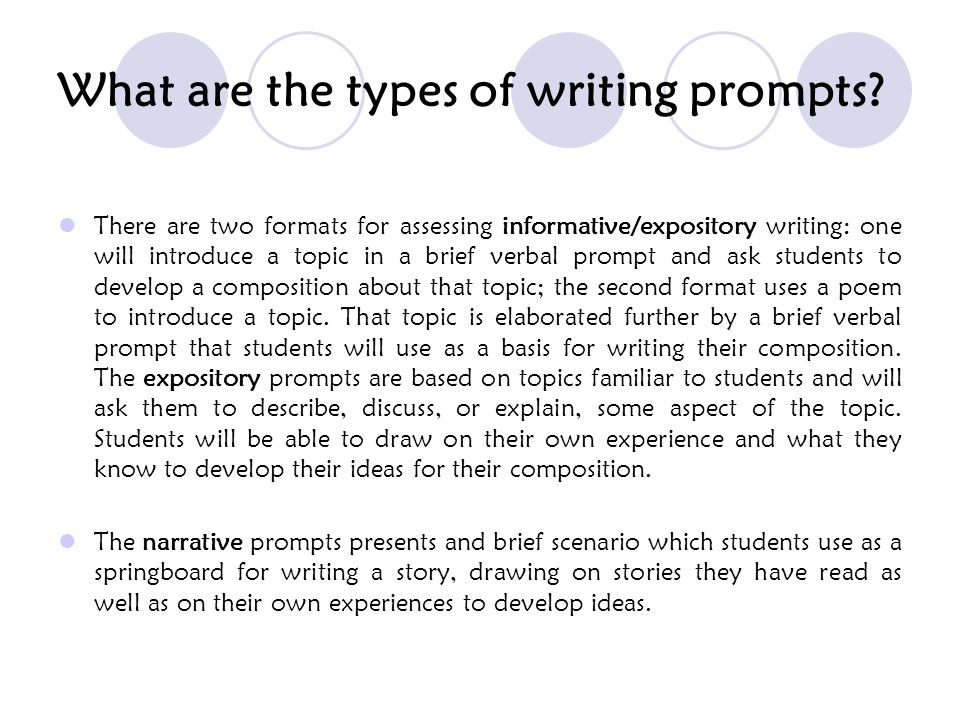 What are the types of writing prompts