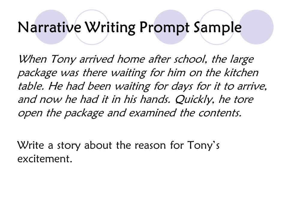 Narrative Writing Prompt Sample