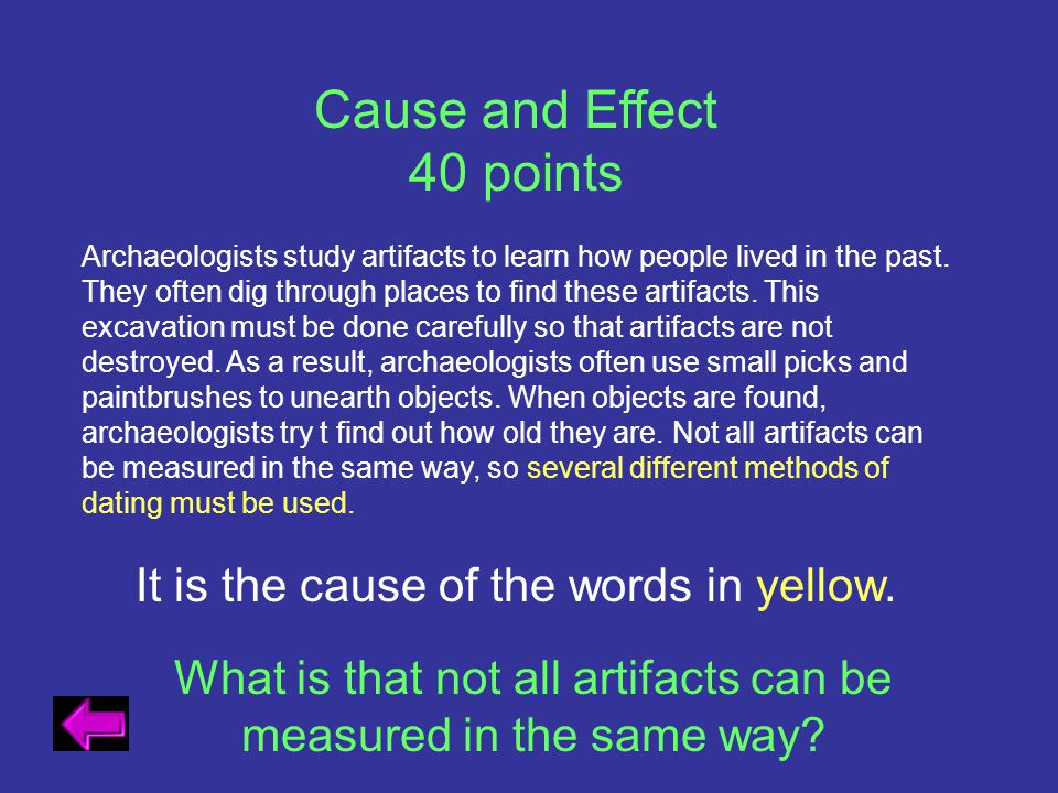 Cause and Effect 40 points It is the cause of the words in yellow.