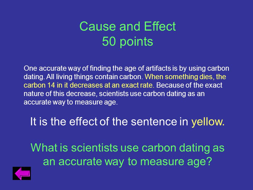 It is the effect of the sentence in yellow.