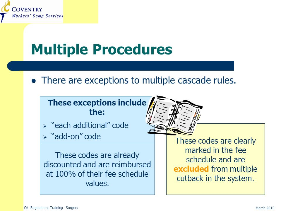 These exceptions include the: