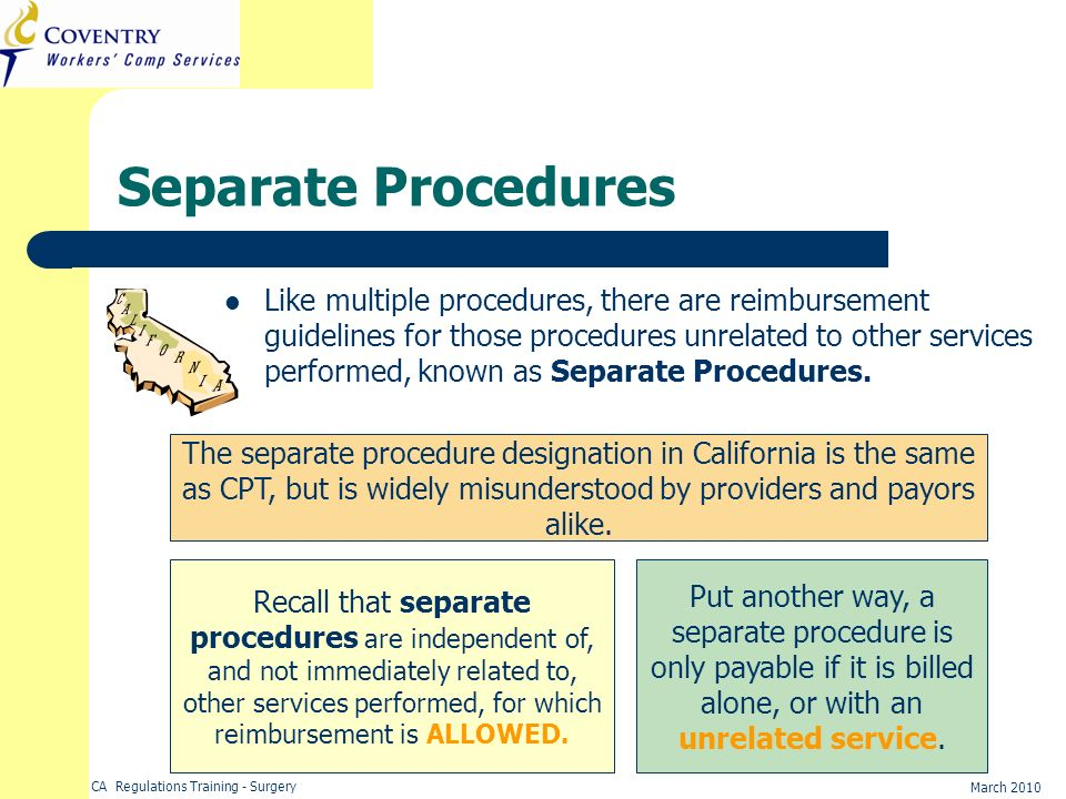 Separate Procedures