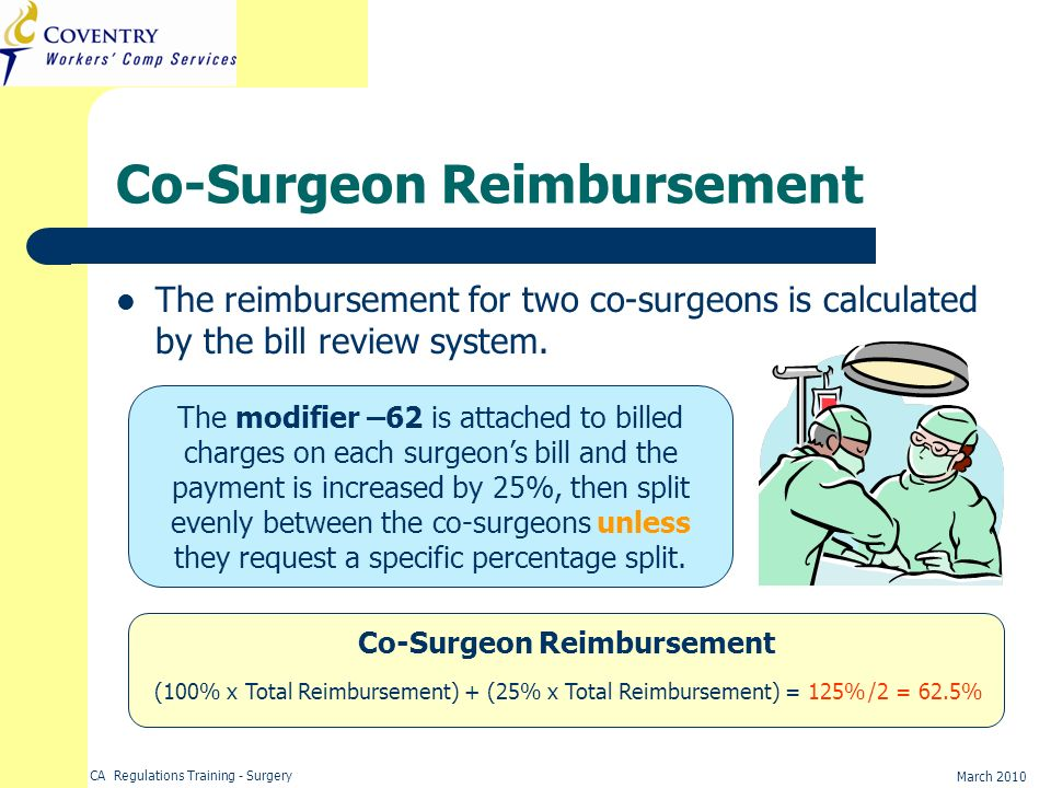 Co-Surgeon Reimbursement