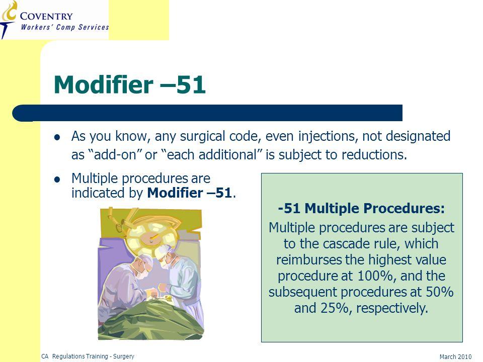 -51 Multiple Procedures: